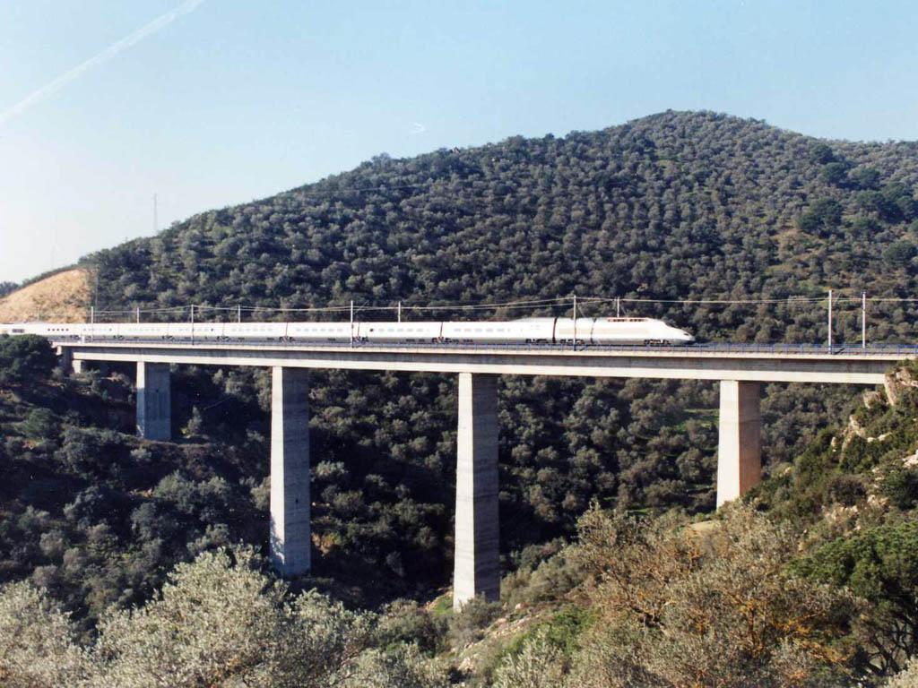 Viaductos para el Tren de Alta Velocidad Madrid - Sevilla - José Antonio Llombart